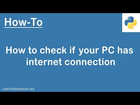 Python Tutorial | How to check if your PC has internet connection thumbnail