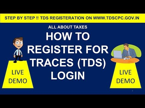 HOW TO REGISTER ON TRACES (www.tdscpc.gov.in) ! CA MANOJ GUPTA !