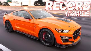 2020-shelby-gt500-breaks-1-4-mile-record-best-ford-mustang-ever-only-2-engine-mods