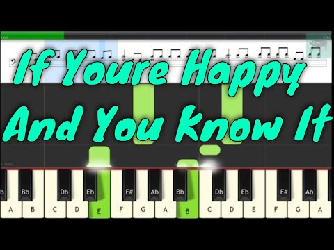 If Youre Happy And You Know It, Piano lesson, How to play