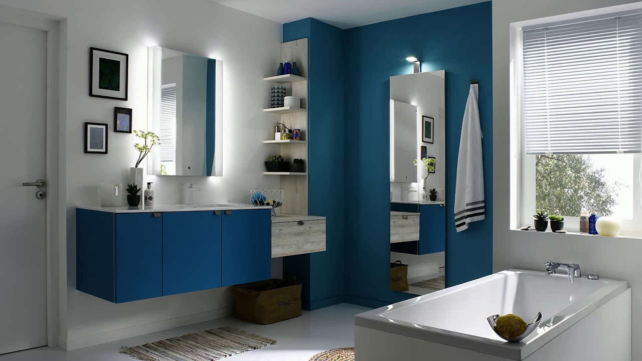 meuble de salle de bain avec meuble de cuisine youtube. Black Bedroom Furniture Sets. Home Design Ideas