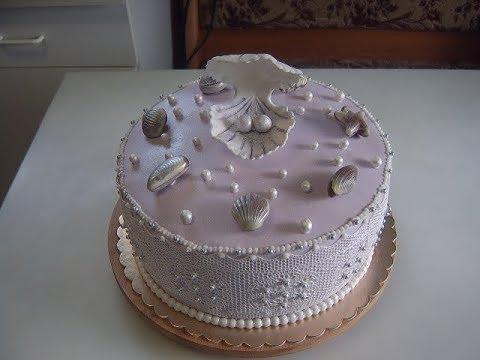Как украсить торт на жемчужную свадьбу