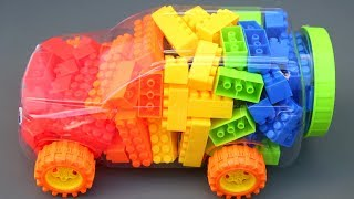 Rainbow Car Lego Blocks Surprise Toys Kids Toddlers Mighty Toys