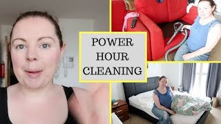 POWER HOUR CLEAN WITH ME || RUNNING OUT OF TIME