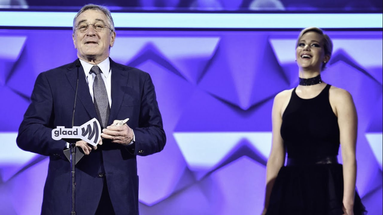 Jennifer Lawrence presents the Excellence in Media Award to Robert De Niro – YouTube