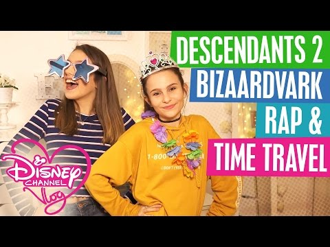 DISNEY CHANNEL VLOG | DESCENDANTS 2 NEWS | EPIC BIZAARDVARK RAP | TIME TRAVEL