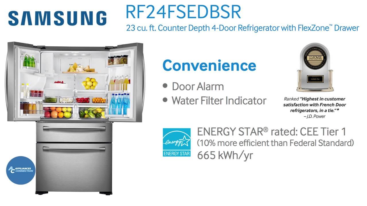 samsung appliance counter depth french door rf24fsedbsr at