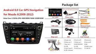 Test: (Black) Android 8.0 os car stereo head unit for Mazda 6(2008-2012)