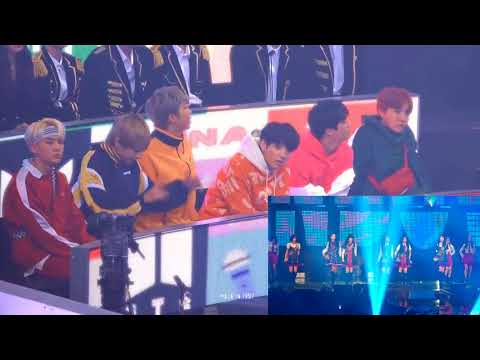 BTS Rection GFriend - RainBow Concert