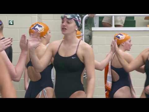 Michigan State Women's Swimming & Diving Defeats Illinois