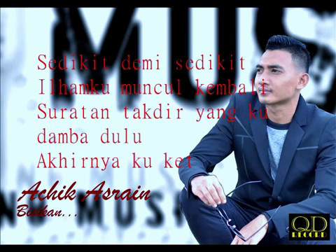 Achik Asrain - Bisikan ( Official Lyrics Video )