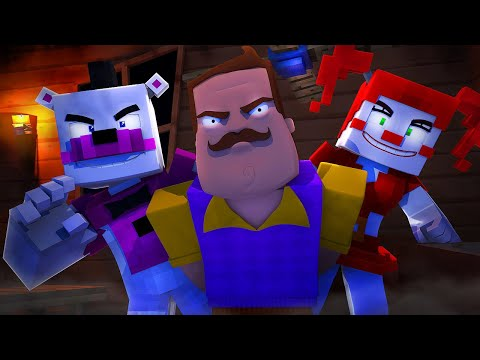 Hello Neighbor HIRE Five Nights at Freddy's! (Minecraft FNAF Roleplay) Teen Titans GO!