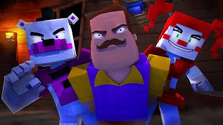 Hello Neighbor ALPHA 4 HIRE Five Nights at Freddy's! (Minecraft FNAF Roleplay) Teen Titans GO!