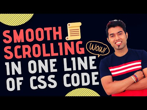 One Line Of CSS Code To Add Smooth Scrolling Effect On Any Website In 2020