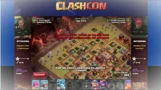 Clash of clans : Quarter final CLASH CON - Sweden Team vs fools attack
