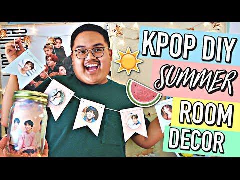 DIY KPOP SUMMER ROOM DECOR 2018 (Easy!) | KPOPAMOO