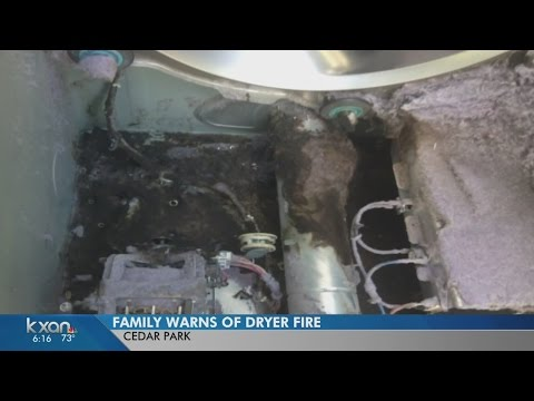 Hidden lint in Samsung dryer starts fire in Cedar Park home