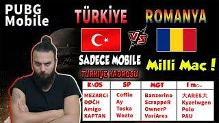 TÜRKİYE vs ROMANYA | PUBG Mobile Türkçe Canlı Yayın    -- PART 1