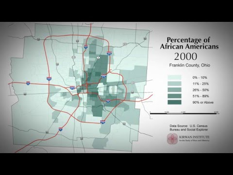 Columbus, Ohio Population Change Percentage of African-Americans