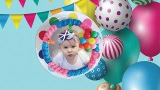 Photo On Birthday Cake - Cake with Photo and Name