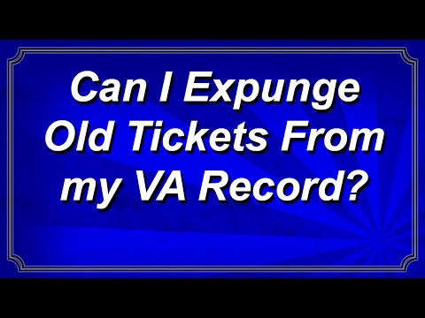 Can I Expunge Old Tickets From my Record in Virginia?