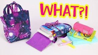 DIY American Girl Backpack! Galaxy Book Bag - No Sew Option!
