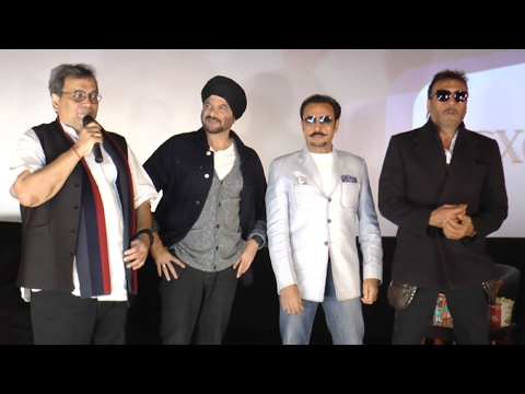Ram Lakhan Reunion - Jackie Shroff,Anil Kapoor,Gulshan Grover At Subhash Ghai's New  Theatre Launch