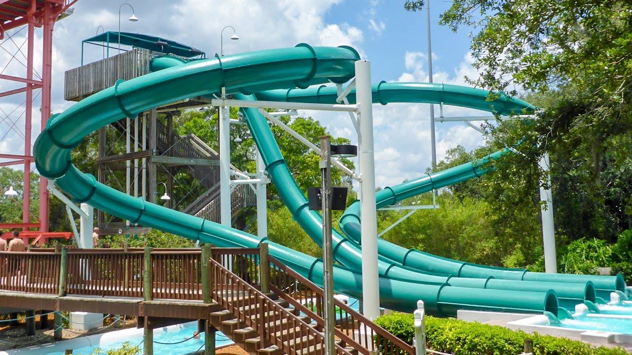 "Adventure Island Tampa: Speed Slides ""Water Moccasin"
