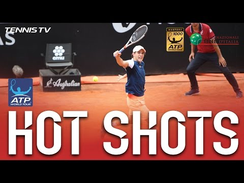 Thiem Rifles Backhand Hot Shot At Rome 2017