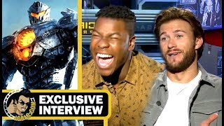 PACIFIC RIM 2: UPRISING John Boyega, Scott Eastwood & Cailee Spaeny Had A Blast! (2018) Interview