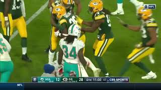 Packers Do A Fake Punt Against The Dolphins (Packers vs Dolphins)