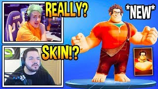 Streamers React To *NEW* WRECK IT RALPH In Fortnite! *INSANE* Fortnite FUNNY & EPIC Moments