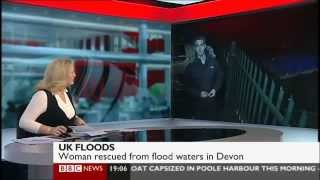 Breaking news from Exeter for BBC News Channel