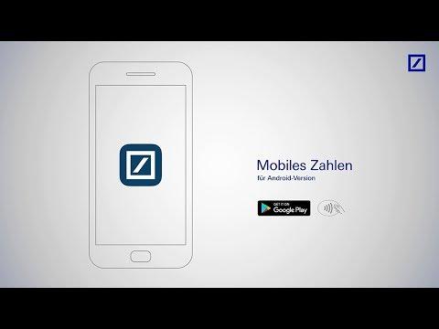 """Bezahlen mit der """"Deutsche Bank Mobile""""-App"""