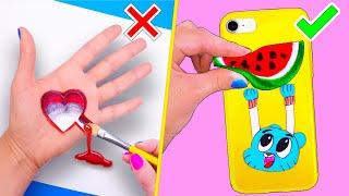 13 ЛАЙФХАКОВ для рисования и игрушки АНТИСТРЕСС! Школьные принадлежности и Идеи для Школы LIFE HACKS