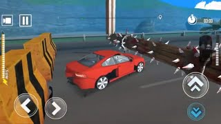 DEADLY RACE #3 Speed Red Car Bumps Challenge 3d Gameplay Android IOS by GimalJoke