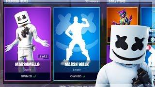 🔴 *NEW* MARSHMELLO SET IN SHOP NOW! MARSHMELLO SKIN GAMEPLAY! (FORTNITE BATTLE ROYALE)