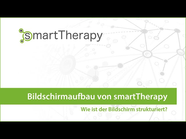 smartTherapy: Bildschirmaufbau