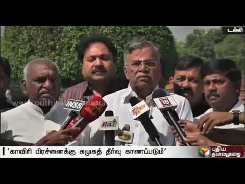 BJP Leader L. Ganesan addressing reporters  after being sworn in as Rajya Sabha MP