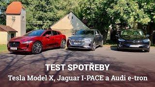 Tesla Model X proti Jaguaru I-PACE a Audi e-tron. Kdo je králem spotřeby?