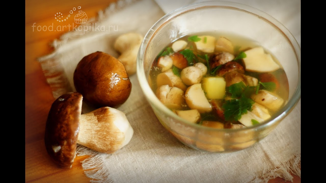 суп из подберезовиков свежих грибов рецепт с фото