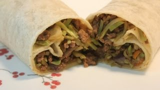 Asian Beef & Broccoli Slaw Wrap