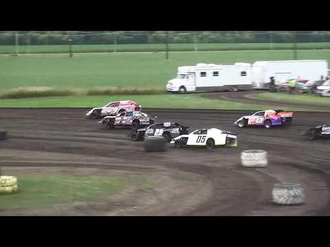 IMCA Sport Mod Heat 1 Benton County Speedway 7/21/19