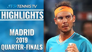 Thiem Sets Djokovic Clash; Nadal To Face Tsitsipas | Madrid Open 2019 Quarter-Final Highlights