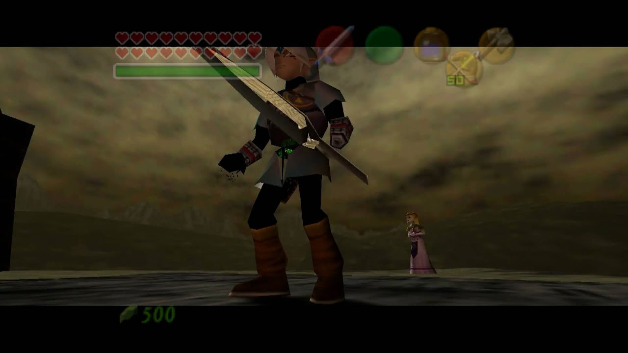 fierce deity vs ganon in the legend of zelda: ocarina of time
