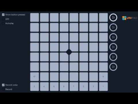 Unipad Tutorial How To Play Alan Walker Faded Youtube