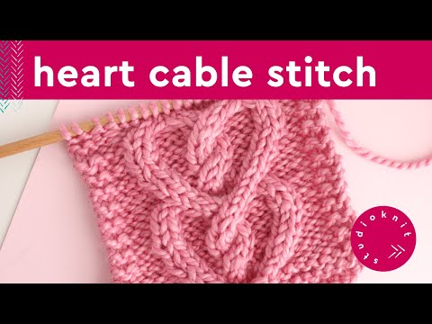 Studio Knit's CABLE HEART 💖 Free Knit Stitch Pattern