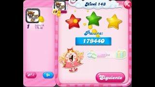 Cómo pasar el nivel 143 de Candy Crush Saga - 3 estrellas - Sin booster
