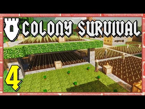 Colony Survival - #4 - Moat Digging and Vertical Farming!