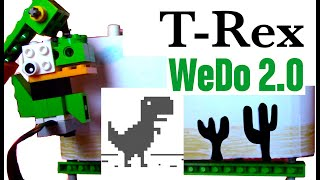Real-life Chrome T-Rex Game with Lego WeDo 2.0